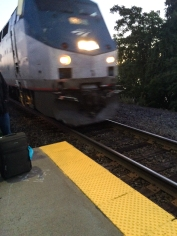 """My train approaches the """"station"""""""