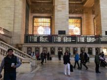 The Metro North board at Grand Central Terminal