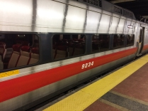 One of Metro North's new trains. Unfortunately, it wasn't up to the task of getting to New Haven