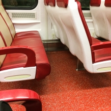 Here's one of those fancy-schmancy new trains.