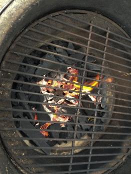 Fire is lit