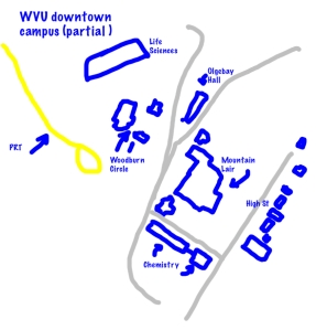 Map of the area where most of buildings in today's gallery are located.