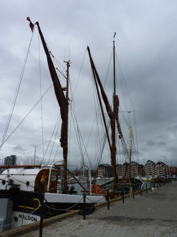 Boats anchored along the quay.