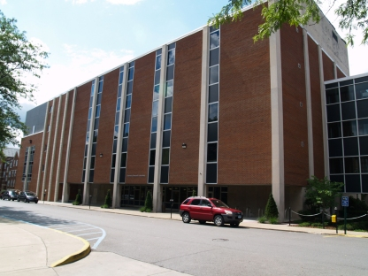 This is the Clark Hall annex. The research library is on the lower level and research labs are on the upper floors.
