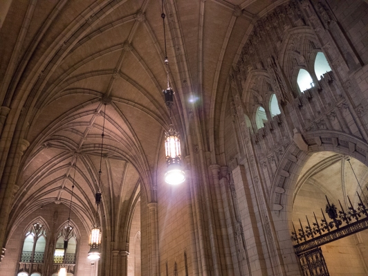 Faith captured the details of the true Gothic arches.