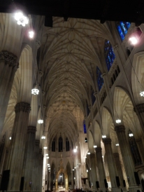 Looking inside the Nave, showing the length of the cathedral