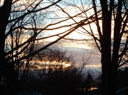 This is a sunset I only see in the winter.