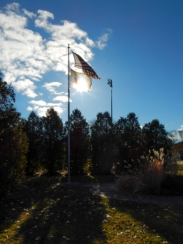 The Veterans Memorial at Veterans Park.