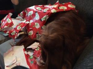 Maddie loves to help us unwrap