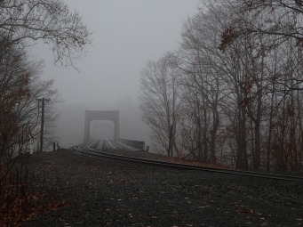 Railroad bridge over Connecticut River between Enfield and Windsor Locks.