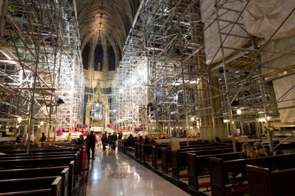 Interior scaffolding / NY Post