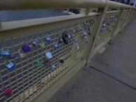 Love-locks on the Roberto Clemente Bridge