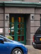 Simple door, but green.