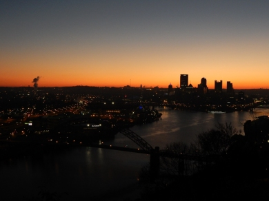 The Pittsburgh skyline is one of the most beautiful of all the ones I've seen. Yes, I'm a little biased, but...