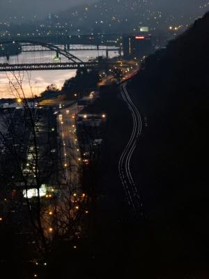 I like the early reflection off the railroad tracks.
