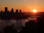 On the rise. That's the Monongahela closest to the sun,