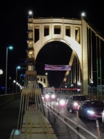 Roberto Clemente Bridge on the way home from a Penguins game