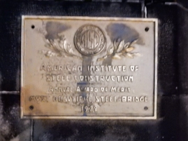 Award on Roberto Clemente Bridge