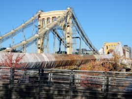 Andy Warhol Bridge being repaired