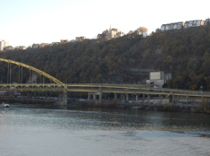 That's Mt. Washington and the city end of the Ft. Pitt Tunnels.