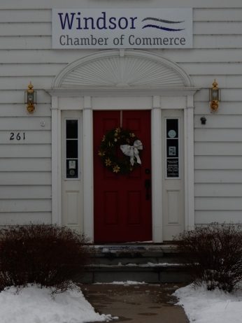Chamber of Commerce. Still decorated for the holidays but it's a good look.