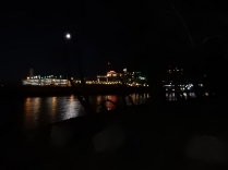 Full moon over Hartford from Great River Park