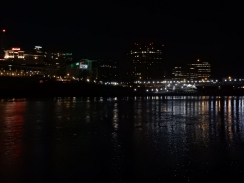 Hartford under moon light