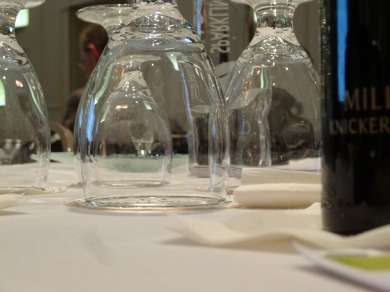 Sometimes, when I'm bored at business functions, I snap photos without lifting my camera.