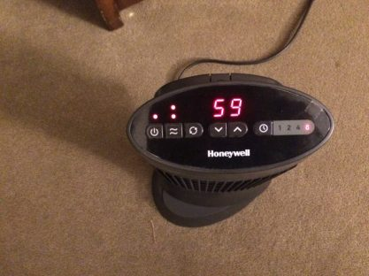 After I set the heater to the desired temp, it shows me the current temp. This is not a good temperature for working.