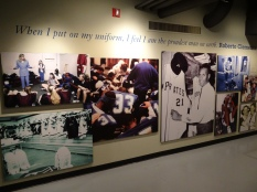 It was good to see a section of the Sports Museum (housed in same building) dedicated to Roberto Clemente. I was lucky enough to have been alive to see him play, but also old enough to be remarkably sad the day he died.