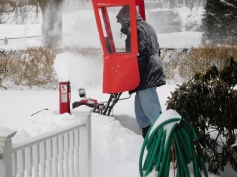 """We had about 16"""" of snow and winds as high as 35 mph."""