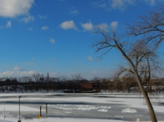 The CT River is almost frozen over (in early February)