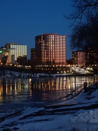 Hartford across the river
