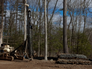 Drill rig and blasting mats. I was only drooling a little