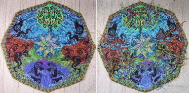 Esther Holsen tapestry- front and back view