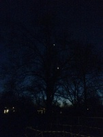 The moon and Venus. Good timing, Maddie
