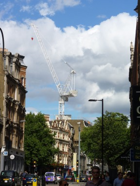 This was a crane I saw outside my hotel in London in 2013.