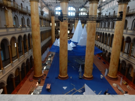 They were setting up for a new exhibit in the main hall the day I was there