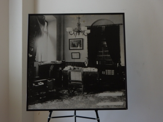 This photo was on display in one of the offices. It shows one of the Pension Bureau executives at work