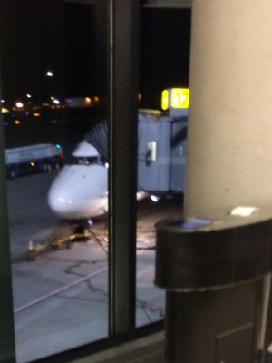 It's always good to see that your plane is actually at the gate