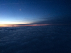 Sunrise above the clouds. One of the benefits of an early flight.