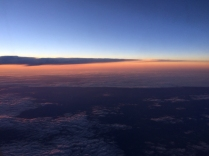 Sunrise at 30,000 feet. One of the benefits of an early flight.
