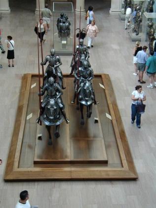 Armor exhibit in the Met