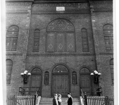 Ados Israel Synagogue, Market Street, Hartford, 1961 - Before it was torn down.