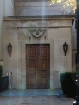 This is a side door to the University of Pittsburgh Art Gallery