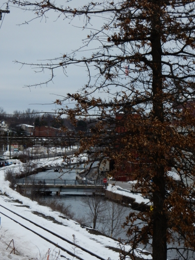 That's the Windsor Locks Canal as it weaves its way through our town.