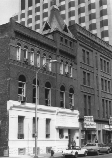 Historic photo across from the Synagogue
