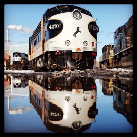 Artistic photos like reflections of trains