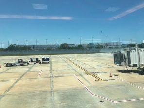 Daytona International Speedway as seen from airport