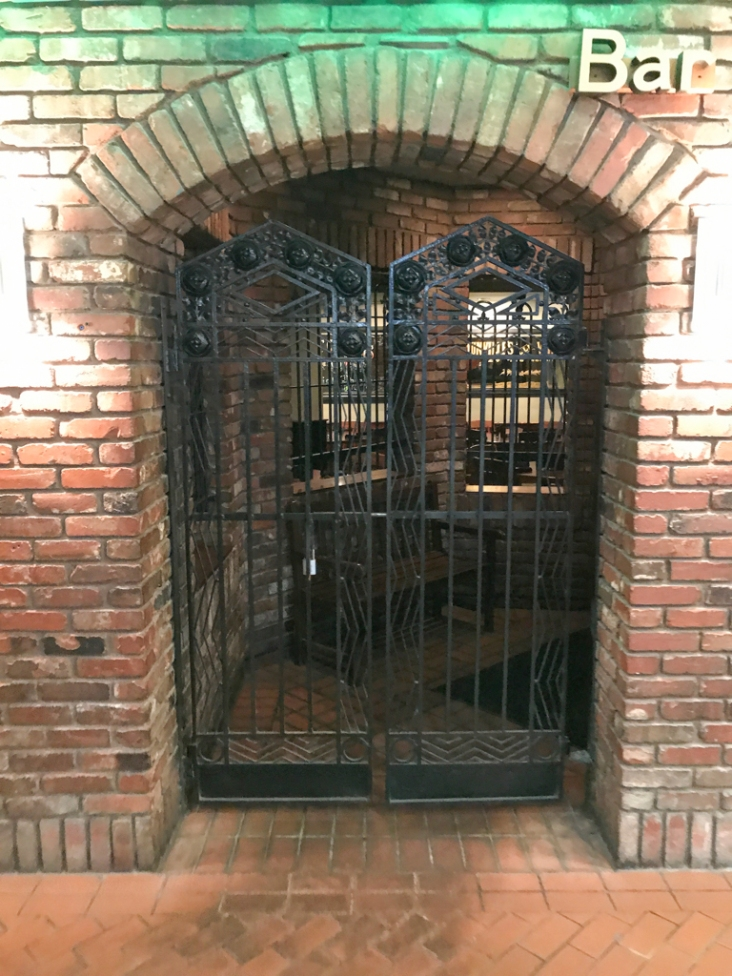 This restaurant inside Station Square is closed, but it's a lovely gate,